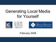 ltc 409 do-it-yourself publicity (part 1) - Long Term Care Insurance