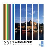 Stockholm International Water Institute (SIWI) Annual Report 2013