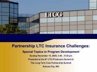 LTC 822 -- Partnership LTCi Challenges - Long Term Care Insurance