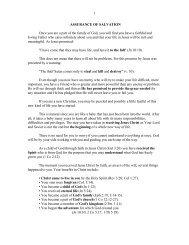 3. Assurance of Salvation - Vital Christianity