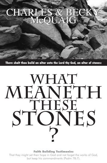 There shalt thou build an altar unto the Lord thy God, an altar of stones