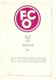 10 Jahre Korbball beim FC Oberneuland