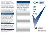 Consent - it's up to you - Department of Health, Social Services and ...