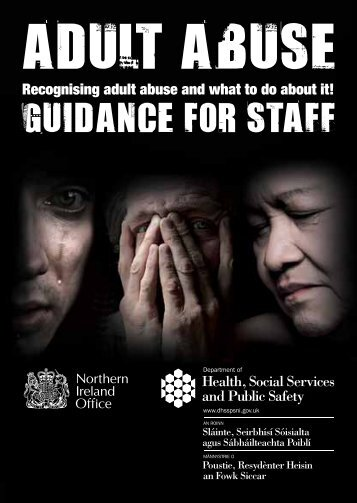 Recognising adult abuse and what to do about it! - Department of ...