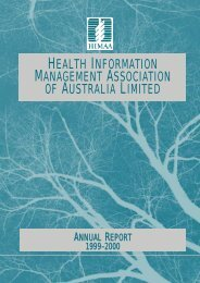 HIMAA Annual Report 2000 - Health Information Management ...