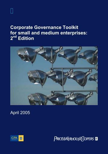 Corporate Governance Toolkit for small and medium enterprises: 2 ...