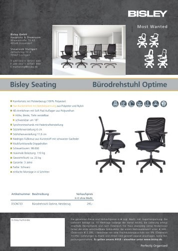 Katalog Bisley Bürodrehstühle