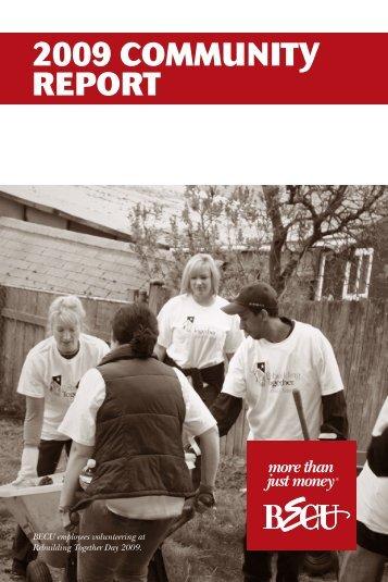 2009 COMMUNITy REPORT - BECU