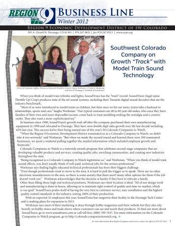 Winter 2012 Newsletter - Region 9 Economic Development District