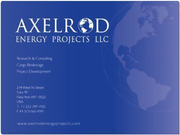 Three Puzzles of 3/11 - Axelrod Energy Projects