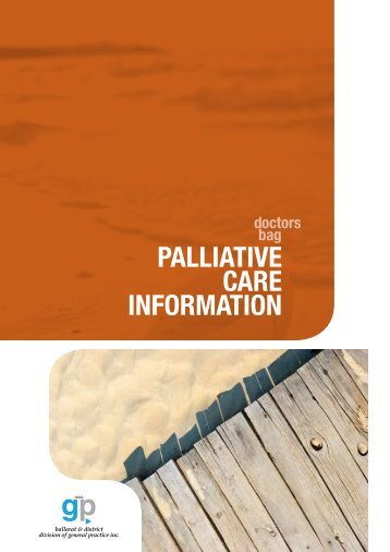 Doctor's Bag: Palliative Care Information booklet - Grampians ...