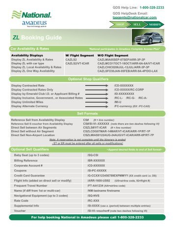 ZL Booking Guide - National Car Rental