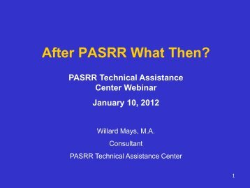 Older Adult Mental Health & Substance Abuse Services - PASRR ...