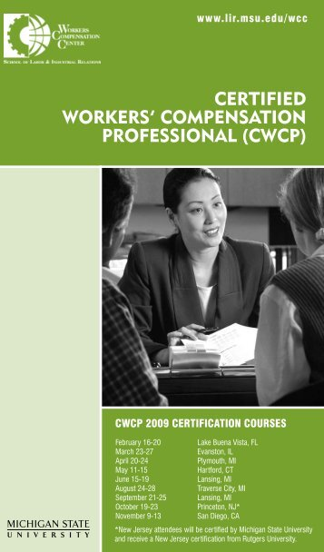 certified workers' compensation professional (cwcp) - New Jersey ...