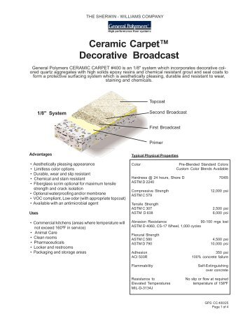 Ceramic Carpet™ Decorative Broadcast - Industrial Epoxy Flooring ...