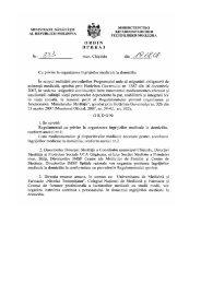 Ordin nr. 333 din 19.08.2008 cu privire la organizarea ingrijirilor ...