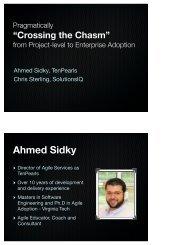 Ahmed Sidky - Agile 2009