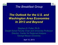 The Outlook for the U.S. and Washington Area Economies In ...The ...
