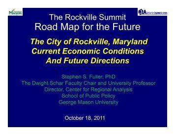 Rockville Economic Summit.pdf - Center for Regional Analysis