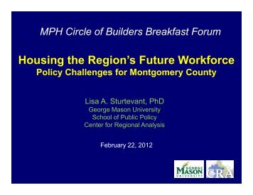 Housing the Regions Workforce - Center for Regional Analysis