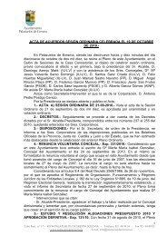 Acta de Pleno ordinaria 19/10/2010 - Ayuntamiento de Palazuelos ...