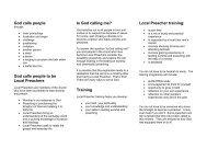 leaflet - The Methodist Church in Ireland