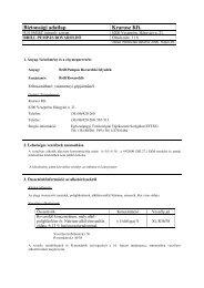 Biztonsági adatlap Krarusz Kft.