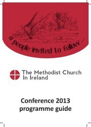 Conference 2013 programme guide - The Methodist Church in Ireland