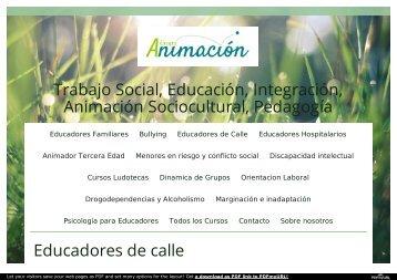 Cursos Educacion de Calle - Educadores de Calle