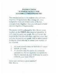 Algebra 2 Summer Packet 2013 641 KB Jul 7, 2013