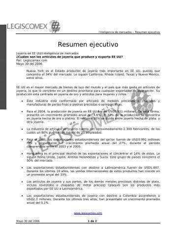 Resumen ejecutivo - Legis Comex