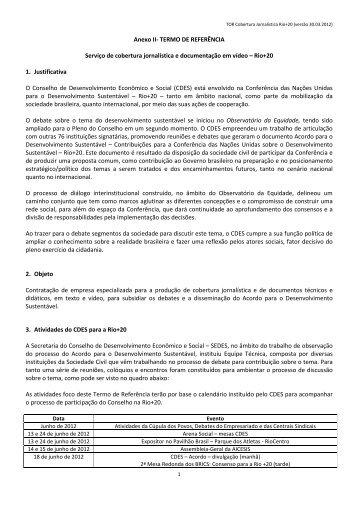 Anexo II- TERMO DE REFERÊNCIA Serviço de cobertura ...