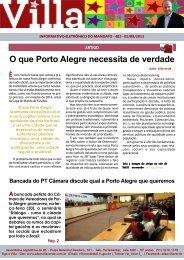 O que Porto Alegre necessita de verdade - Adão Villaverde