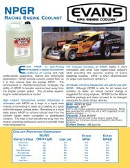 RACING ENGINE COOLANT - Evans Cooling Systems