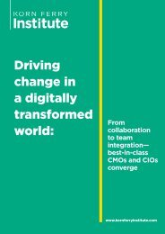 Driving change in a digitally transformed world
