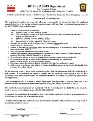 Fireworks Permit Application Temporary Stands 2013 - fems