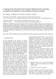 Coupling of the eXtended Finite Element Method and the matching ...