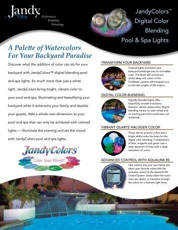 Jandy Colors - Johnson Pool & Spa