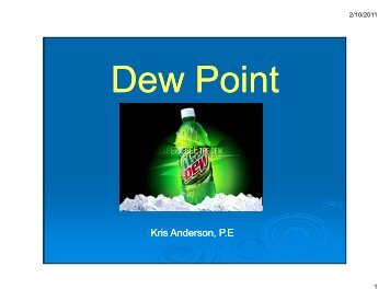 Dewpoint Handout - 1 slide per page - Maine Indoor Air Quality ...
