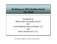 Building an IAQ Healthy Home The Shell - Maine Indoor Air Quality ...