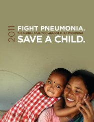 2011 World Pneumonia Day Report