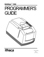 BANKjet 1500 Programmer's Guide - TransAct