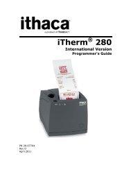 Ithaca 280 International Programmer's Guide - TransAct