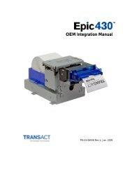 43-06937 INSERT-EPIC 430 OEM INTEGRATION MANUAL - TransAct
