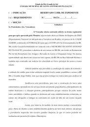 Anexo 1 - Câmara Municipal de Vereadores Santo Antônio do ...