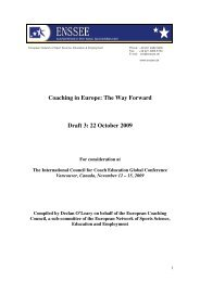 Coaching in Europe: The Way Forward - International Council for ...