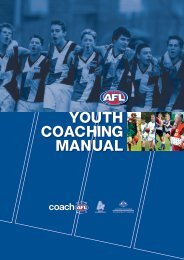 2012 Youth Coaching Manual - AFL Community