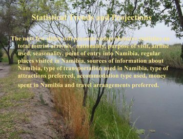 Namibia's tourism statistics for 2003