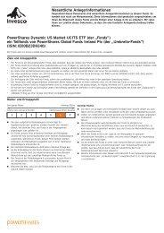 Key Investor Information Document - InvescoPowerShares.net