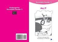 Kindergarten Decodable Reader 2